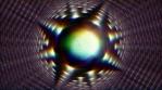 circular strange oblongate thing that rotates and has prisma light 4K