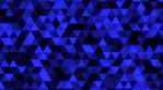 Abstract Glowing Blue Triangle Tessellation