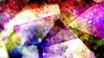 Abstract Rainbow Fractal and Colorful Geometric Shapes
