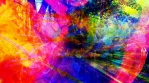 Amazing Abstract Colorful Scene in a Hidden Fantasy World