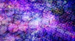 Blue and Purple Spinning Hexagons and Falling Dust