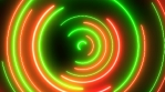 Christmas Colors Red and Green Abstract Circle Neon Light Wreath