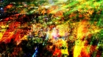 Colorful Abstract Light Shining on Grungy Surface