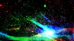 Dark Multicolored Chaotic Geometry in Outer Space with Stars