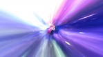 Fly through Wormhole Hyperspace Vortex Tunnel in Deep Space Galaxy Stars