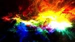 Harsh Vivid Color Nebula Supernova in Deep Space