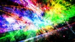 Slow Shifting Rainbow Outer Space Laser Light Show with Stars