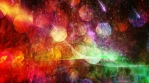 Bright Vivid Colors on Starry Sky Backdrop with Bokeh