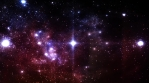 Glowing Stars in Deep Outer Space with Flowing Comet Dust Specks