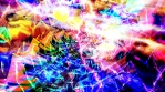 Colorful Rainbow Spiral and Frozen Unmoving Thunderbolt