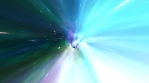 Travel through SciFi Wormhole Tunnel at Warp Speed in Galactic Space