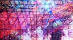 Pink Grid with Vivid Colorful Panning Texture