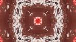 Chocolate  raspberry kaleidoscope. Red on brown backdrop. Organic abstract kaleidoscopic patterns.