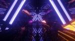 Sci Fi Tunnel Dynamic Neon Lights Triangle