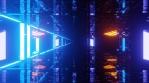Sci Fi Tunnel Dynamic Neon Lights