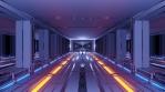 Sci Fi Tunnel Long Corridor