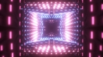 Neon Light Grid Tunnel 01