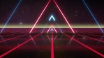 Abstract Retro eighties Neon Synthwave Background Loop