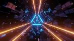 Sci Fi Tunnel Triangle Glowing Neon