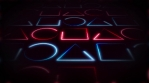 Abstract Neon Fx Geometric Light Stroke Background Loop