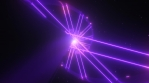 Futuristic Sci-Fi Spiral and Neon Laser Beams Glow in Outer Space