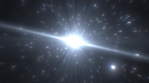 Giant Quasar Star Emits Glow Energy Particles in Deep Outer Space