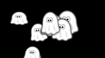 bunch of comic ghosts