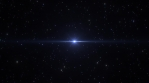 Journey Through Glow Star Field in Deep Outer Space Universe Flight