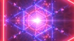 Neon Laser Beam Sci-Fi Futuristic Endless Tunnel Metal Reflections