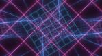Retro Neon Grid Twist Tunnel of 80s Hot Pink Blue Glow Laser Lights