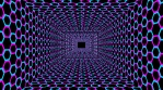 Square tunel of hexagons