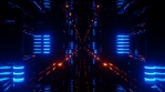 Sci Fi Tunnel Glowing Lights Orange Blue