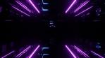 Sci Fi Tunnel Glowing Lights Purple Blue
