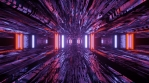 Sci Fi Tunnel Abstract Art