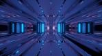 Sci Fi Tunnel Reflections Glowing Purple Blue Orange