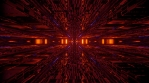 Sci Fi Tunnel Reflections Glowing Orange