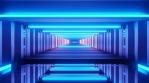 Sci Fi Tunnel Glowing Blue Leds Corridor
