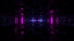 Sci Fi Tunnel Dark Neon Reflections