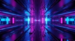 Sci Fi Tunnel Neon Reflections