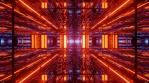 Sci Fi Tunnels Glowing Reflections
