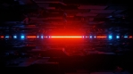 Sci Fi Tunnel Glowing Red Blue Horizon