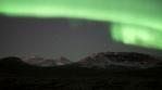 Bright aurora snow peaks 2020
