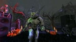 Seamless animation of a werewolf dancing  thriller in a party in a graveyard. Funny cartoon characte