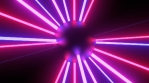 Moving Laser Beam Rays on Futuristic Neon Glow Light Ball Flashing