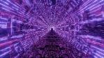 Sci Fi Tunnel Purple Circle Art