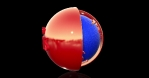 Breaking news Earth map 3d RED and BLUE 2k 2048x1080