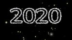 feliz año nuevo 2020 2021 blanco y negro explosion de bolas