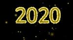 feliz año nuevo 2020 2021 dorado