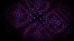 Abstract Kaleidoscope Background With Flowing Particles Lines Fx