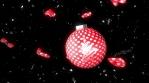 feliz navidad con bola de arbol de navidad 3d 4k rojo y blanco